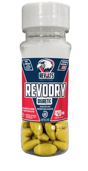 TERMOGÊNICO - REVODRY DIURETIC 60 TABS  - REVOLTS NUTRITION