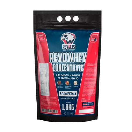 RevoWhey Concentrate 1.8kg - Revolts Nutrition