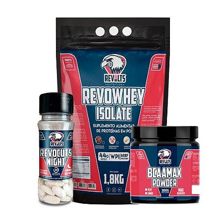 Revocuts Night 30 Tabs + RevoWhey Isolate 1,8kg + BcaaMax Powder 300g