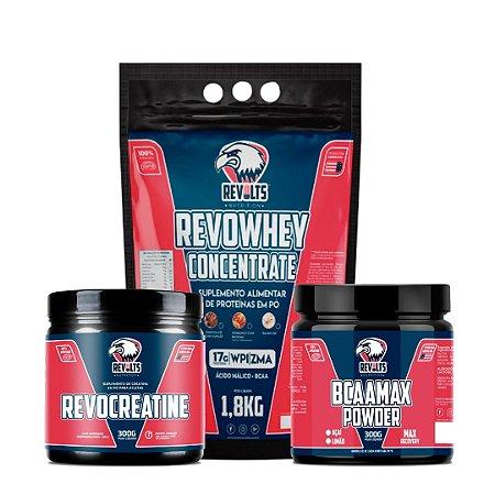 RevoCreatine 300g  + RevoWhey Concentrate 1,8kg + BcaaMax Powder 300g