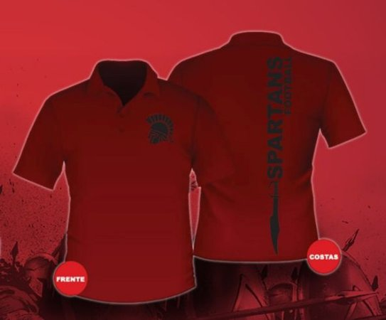 Camisa Polo vermelha Spartans Feminina e Masculina