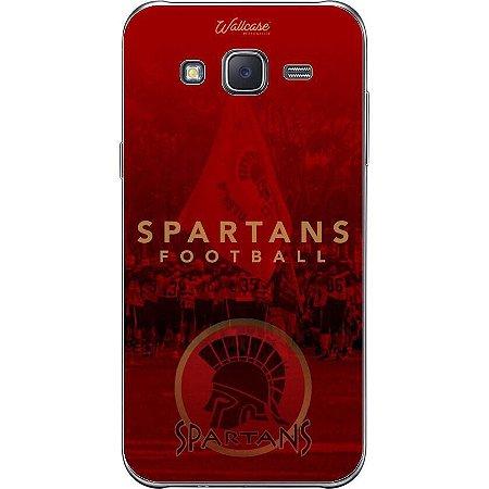 Capinha de celular Spartans fundo vermelho