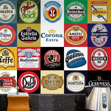 Adesivo de Azulejo Cervejas