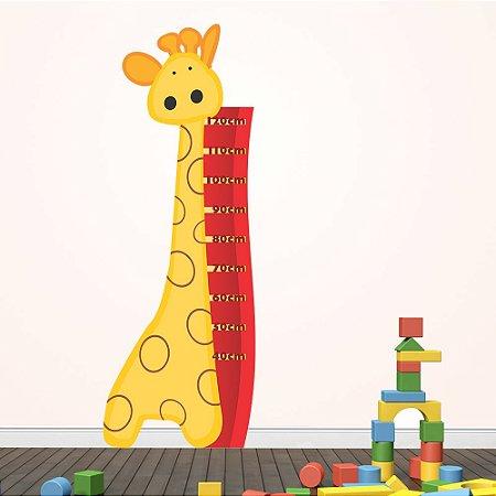 Adesivo Régua Medidora Infantil Girafinha