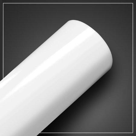 Adesivo Branco Brilhante - Larg. 60cm - Venda por mt
