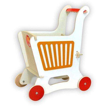 Carrinho de Supermercado - Laranja - TopToy