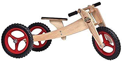 Wood Bike Kid 03 em 1 - Vermelha - Camará