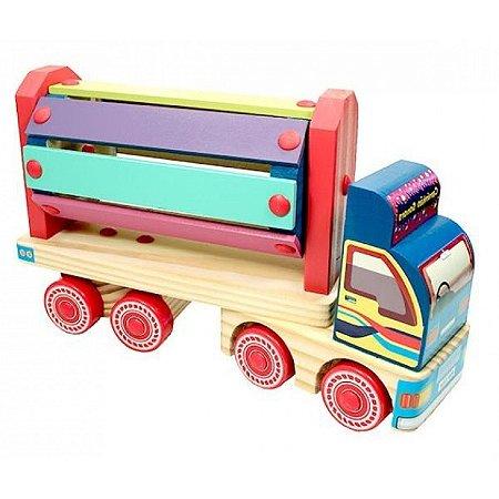Caminhão-Sonoro-Madeira-Multicolorido-Carimbras