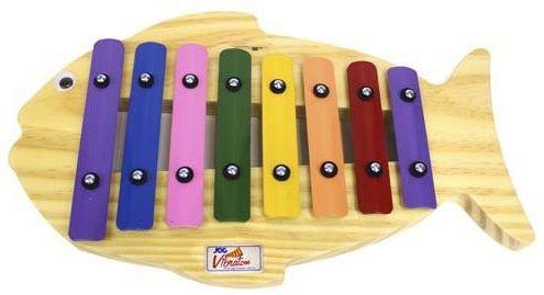 Metalofone de madeira Peixe Colorido JogVibratom