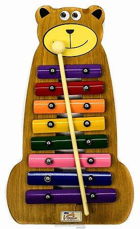 Metalofone de madeira Urso Colorido JogVibratom