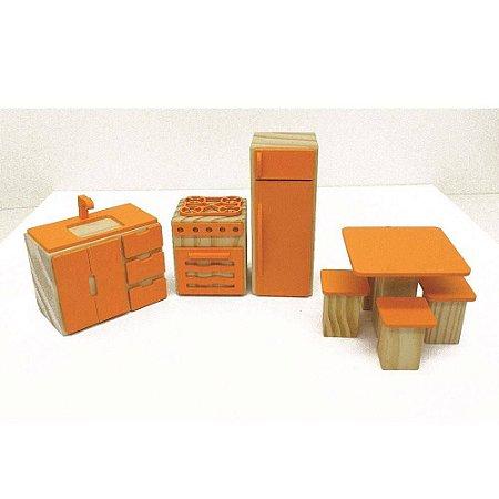 Coleçao Casinha kit cozinha laranja