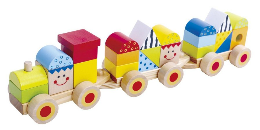 Trem de madeira blocos de encaixe