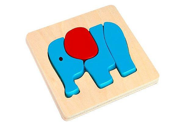 Quebra cabeça com tabuleiro elefante