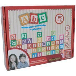ABC Maiúscula e Minúscula 96 pçcs- madeira-brincadeira de criança