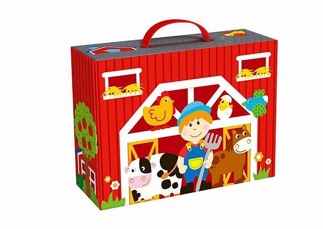 Caixa Divertida - Fazenda-Madeira-Tooky Toy