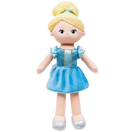 Boneca Cinderela de pano 40cm princesas da Disney Bubba