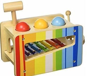 Xilofone Divertido - Bate Bolinhas - Madeira - Tooky Toy