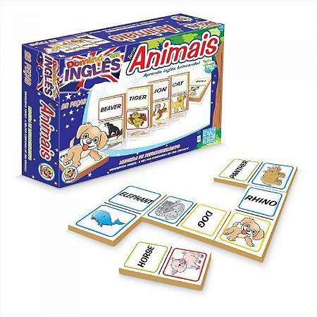Dominó – Jogo de Dominó em Inglês – Tema Animais - Junges