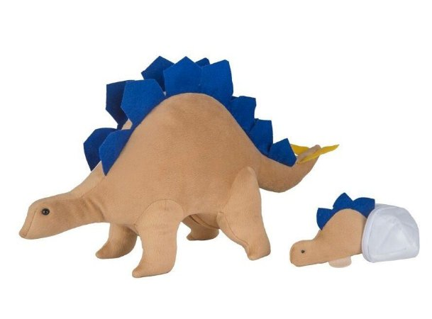 Dinossauro – Pelúcia – Estegossaura Grávida de 1 Filhote - CAS