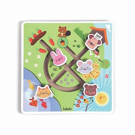 Brinquedo 1 ano – Brinquedos de Madeira – Labirinto no Campo – Babebi