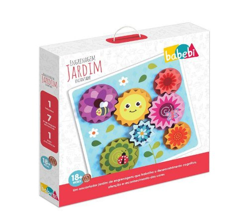 Brinquedo 1 ano – Brinquedos de Madeira – Engrenagens Jardim Encantado – Babebi