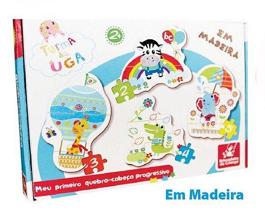 Jogo Quebra – Cabeça – Progressivo – Em madeira – Meu Primeiro Quebra-cabeça Progressivo Zebra - Brincadeira de Criança