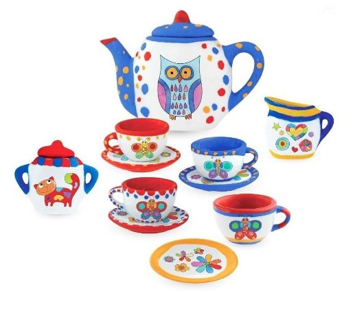 Pintura para Crianças – Brinquedo de Pintar – Louça de Porcelana para Pintar – Kit de Chá – Zoop Toys