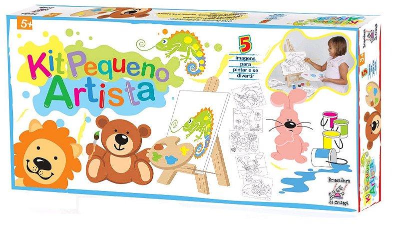Kit Pintura Pequeno Artista-Madeira-Brincadeira de Criança