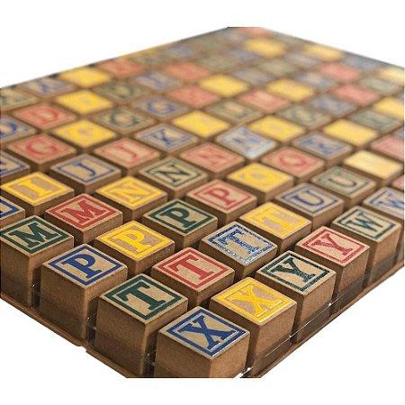 Aprender Alfabeto – Letras de Madeira – Brinquedo de Madeira – Art Yara
