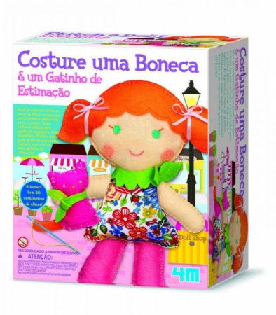 Costura Infantil – Costure uma Boneca e um Gatinho – Kosmica – 4M