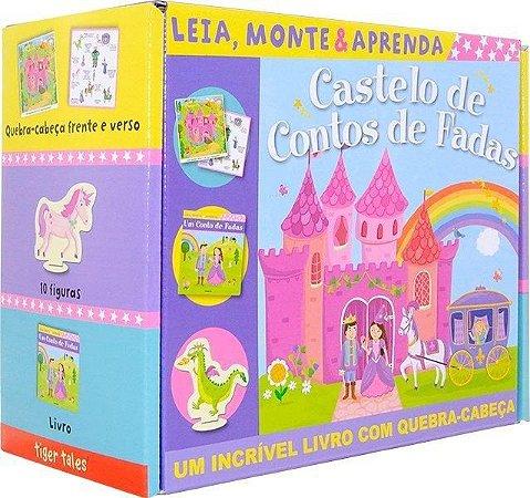 LIVRO- Castelo de Contos de Fadas: Leia, Monte e Aprenda