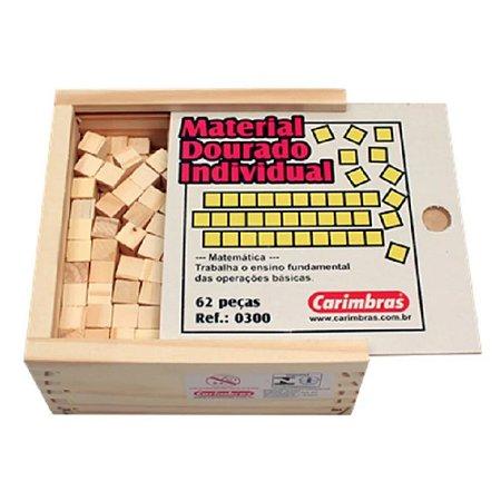 Material Dourado Individual - Caixa Madeira - Carimbras