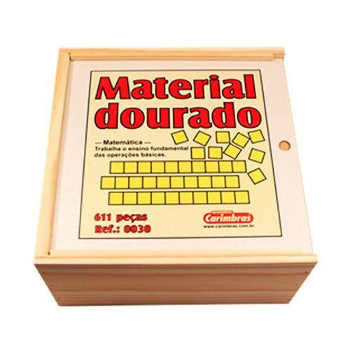 Material Dourado Gigante - 611 peças - Madeira - Carimbras
