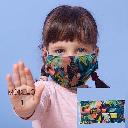 Mascara De Proteção Tecido Duplo - Modelo 1 - Flora