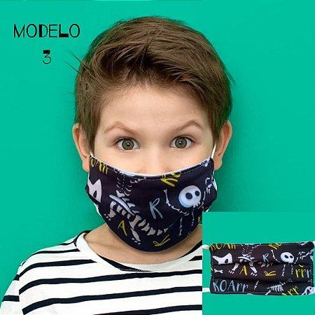 Mascara De Proteção Tecido Duplo - Modelo 3 - Caveira
