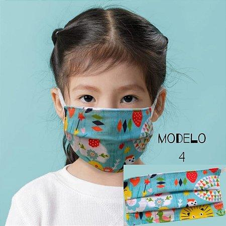 Mascara De Proteção Tecido Duplo - Modelo 4 - Fauna