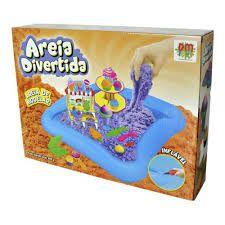Areia de Modelar  Divertida Delicias- Bote Inflável- Dm Toys