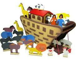 Arca de Noé Completa - Madeira - Baú do Pirata