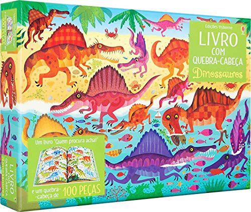 Livro - Dinossauros - Com Quebra-Cabeça
