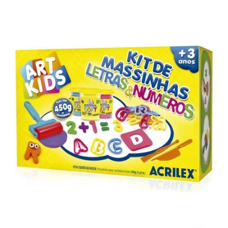 Kit De Massinhas - Letras e Números