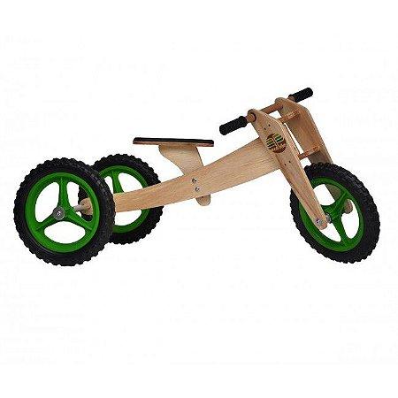 Wood Bike Kid 03 em 1 - Verde - Camará