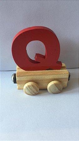 Vagão Letra Q - Vermelho