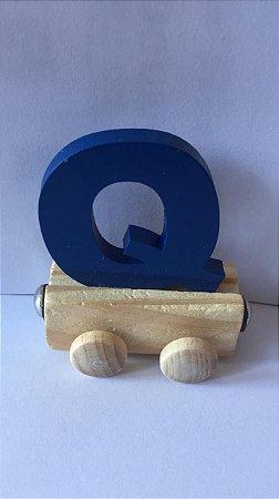 Vagão Letra Q - Azul