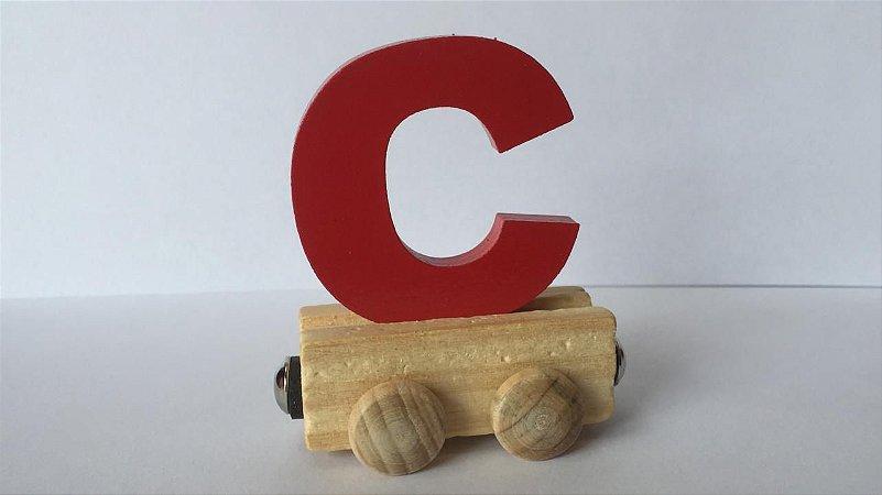 Vagão Letra C - Vermelho