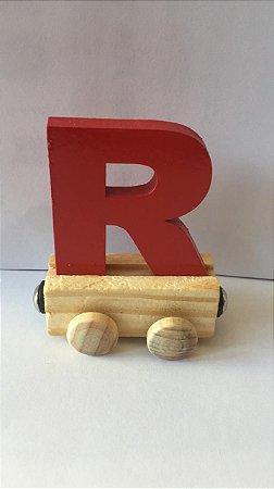 Vagão Letra R - Vermelho