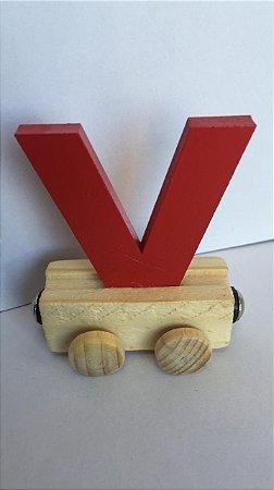 Vagão Letra V - Vermelha