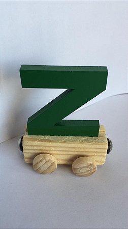 Vagão Letra Z - Verde