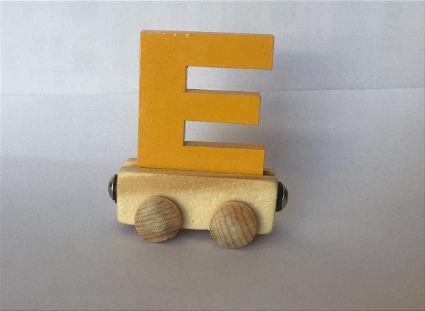Vagão Letra E - Amarela