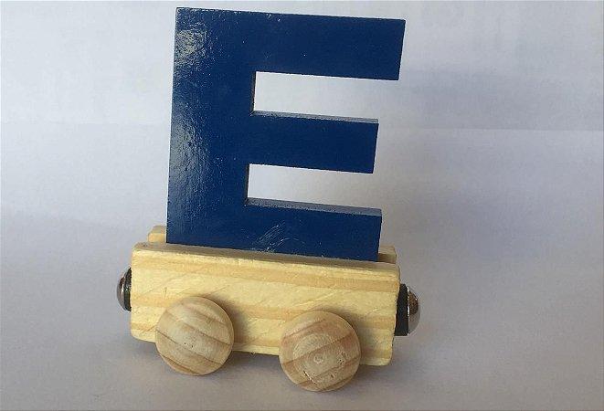 Vagão Letra E - Azul