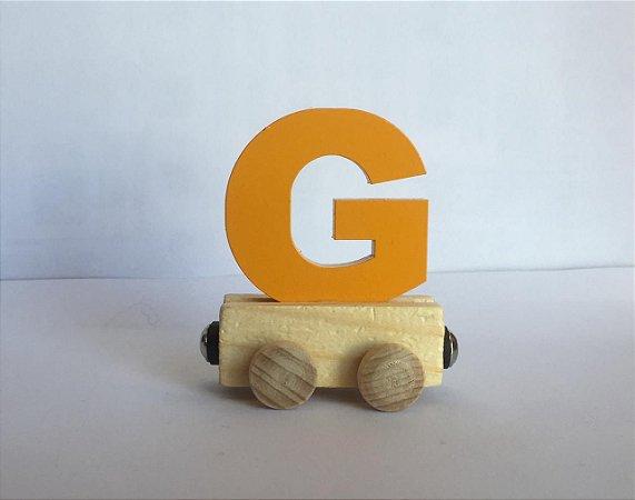 Vagão Letra G - Amarela
